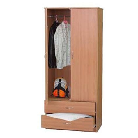 Two Door Wardrobe Closet closets wardrobe closet wardrobe 2 door and 2 drawer w108