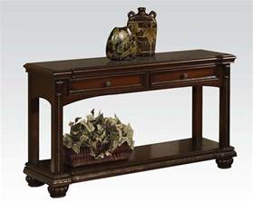 what is a sofa table traditional sofa table in cherry anondale by acme