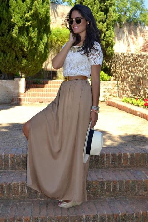 Maxi El Classico ways to wear a maxi skirt jupes mon style