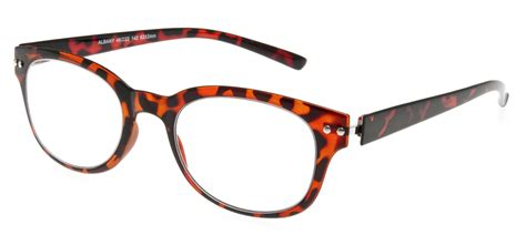 albany reading glasses in black and brown 1 00 3 00