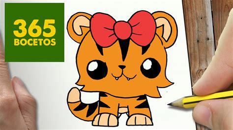 imagenes de tigres kawaii como dibujar tigresa kawaii paso a paso dibujos kawaii