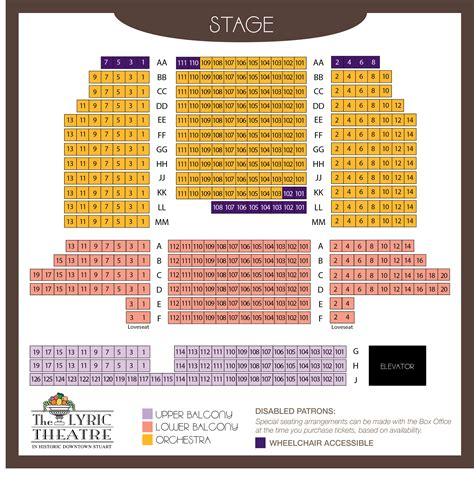 theatre seating chart kc lyric theatre seating chart
