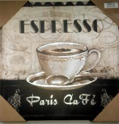Coffee Home Decor by Coffee Theme Espresso Paris Cafe Bistro Canvas Pictures