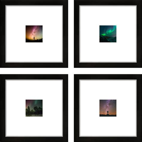 Frame Square Black craig frames 8x8 black picture frame smartphone collection single white mat with 4x4 square