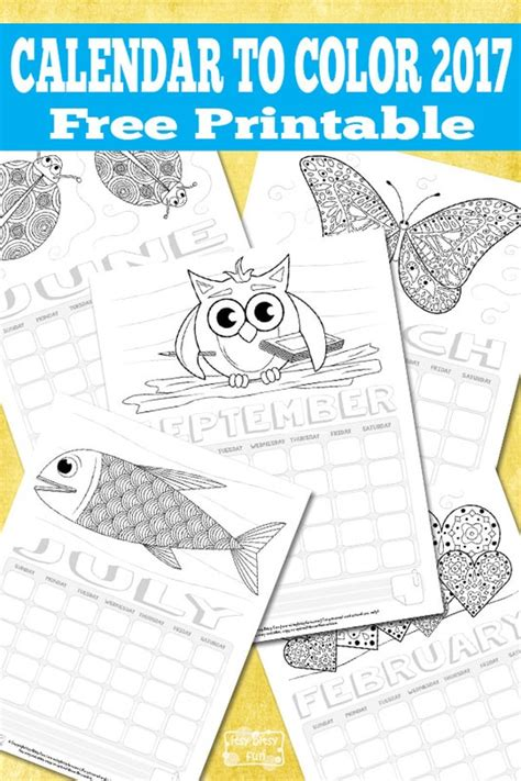 Printable Calendar For Kids 2017 Itsy Bitsy Fun Free Preschool Calendar Templates 2017