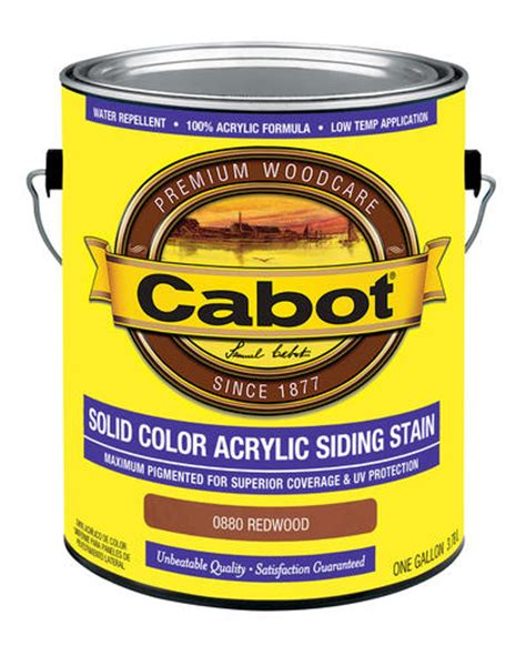 cabot redwood solid color acrylic siding stain 1 gal