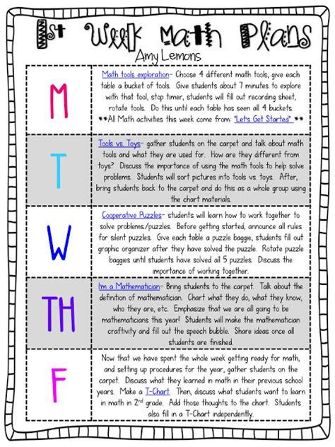 new year math lesson plans step into 2nd grade with mrs lemons back to school 1st