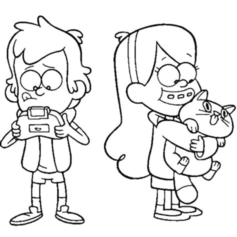 dipper free coloring pages