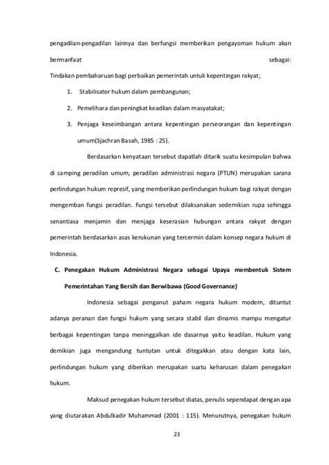 Implikasi Pembatasan Kompetensi Absolut Ptun makalah peradilan administrasi negara dan implementasi dalam penegaka