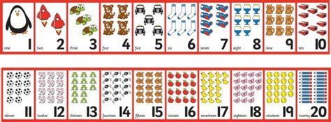 printable number frieze 1 20 free worksheets 187 printable number chart 1 20 free math