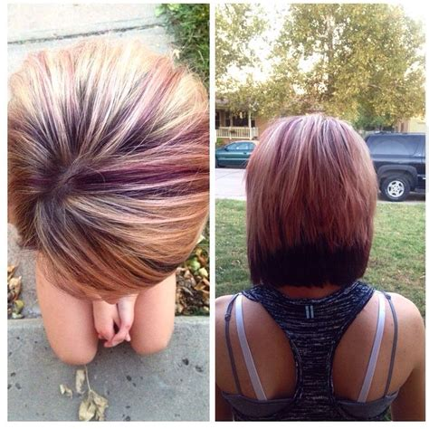 hair color swatches on pinterest short highlighted short hair with plum highlights on blonde hair with plum
