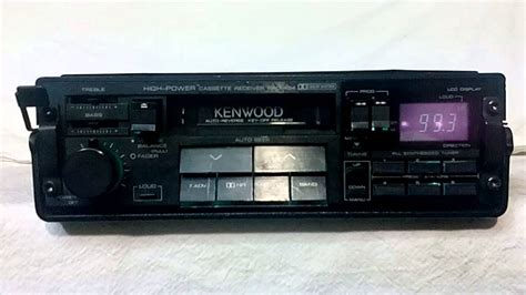 cassette car vintage kenwood krc 434 am fm cassette car stereo