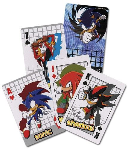 sonic playing cards sonic news network  sonic wiki