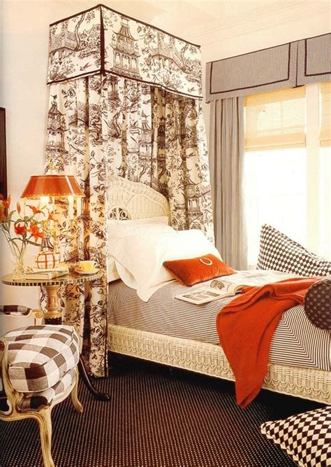 toile bedroom ideas beds on pinterest toile blue and white and canopies