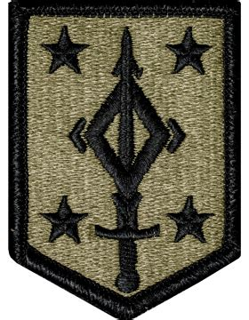 operational camouflage pattern unit patches ocp unit patch 4th manuever enhancement brigade with