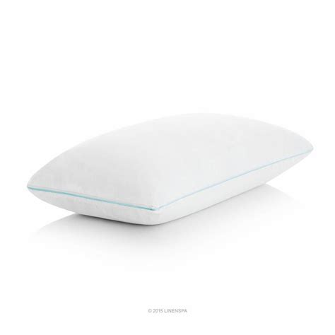 Shredded Foam Pillow by Linenspa Shredded Memory Foam Pillow With Gel Memory Foam Layer Standard Lzssgfsd The Home Depot