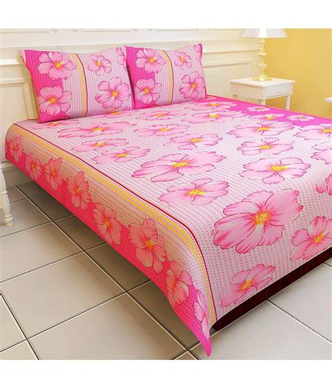 futon cover set with pillows vowsy eterno pink printed double bed sheet set with pillow