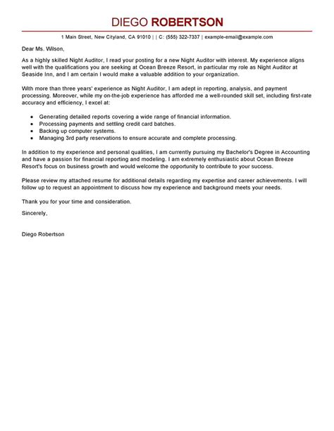 Cover Letter Accounting Audit Auditing Cover Letter Sles