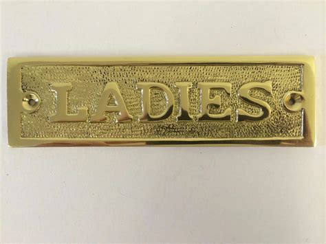 bathroom door signs vintage gentlemen ladies toilet bathroom door sign plaque screws