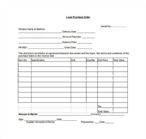 ms word purchase order template purchase order template 45 free word excel pdf