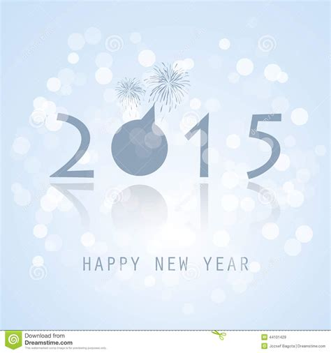 new year card 2015 stock vector image 44101429