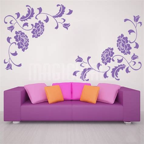 floral wall stickers wall decals floral peony wall stickers canada