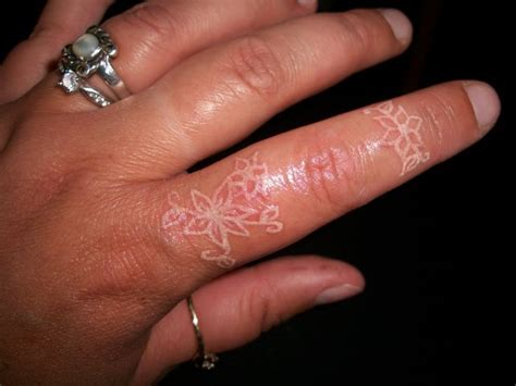 white ink couple tattoos white ink finger tattoos view more tattoos pictures
