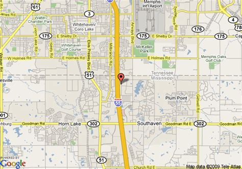 map of quality inn southaven southaven