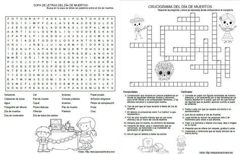 preguntas dificiles de la independencia de mexico sopa de letras y crucigrama del d 237 a de muertos material
