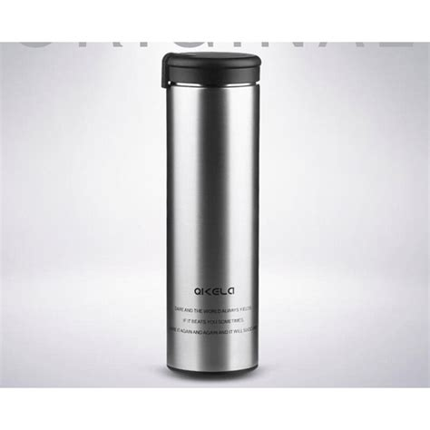 qkella botol minum thermos stainless steel 450ml silver jakartanotebook