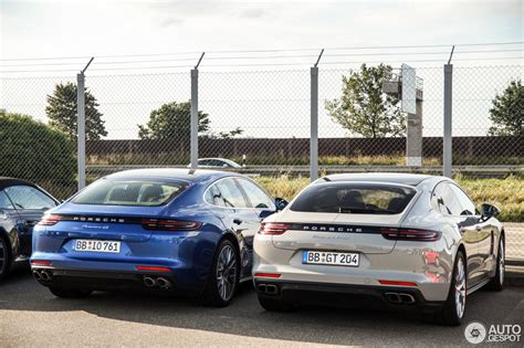 porsche germany 2017 porsche panamera turbo panamera 4s duo spotted in
