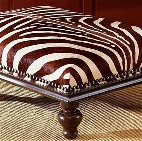 zebra ottoman coffee table dose of design love it zebra ottoman