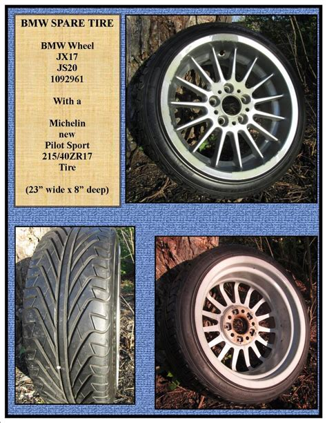 how much does a 2007 bmw 328i take bmw spare tire