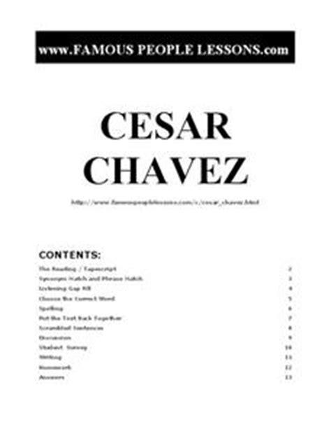 Cesar Chavez Worksheet by Cesar Chavez 3rd 6th Grade Worksheet Lesson Planet