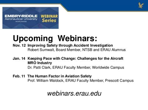 Erau Mba by Erau Degree Briefing Bs Technical Management And Mba In