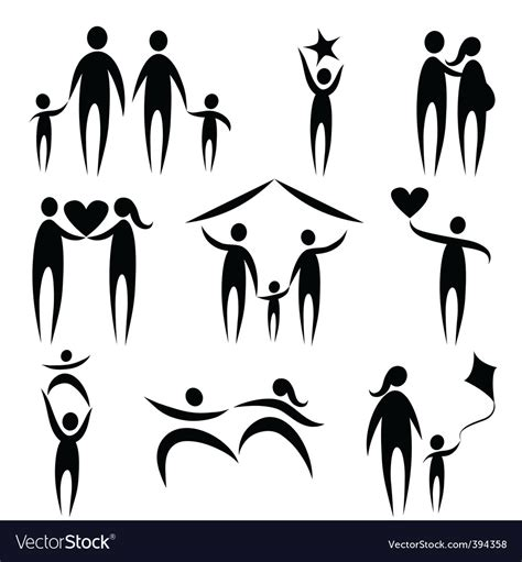 Family Symbols Royalty Free Vector Image Vectorstock Ancestry Stock Images Royalty Free Images Vectors