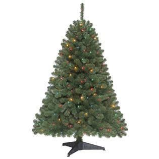trim a home brilliant tree 4 5 ft endicott pine glow with kmart