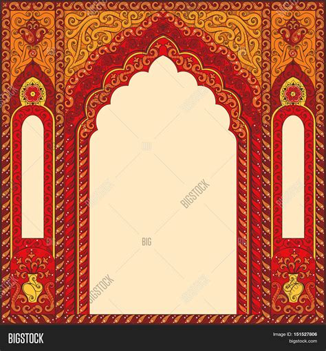How Large Is 500 Square Feet by Eastern Red Frames Arch Template Vector Amp Photo Bigstock