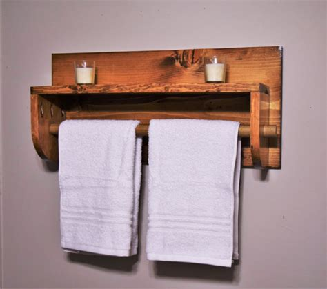 bathroom shelf with towel rack towel rack wooden towel rack