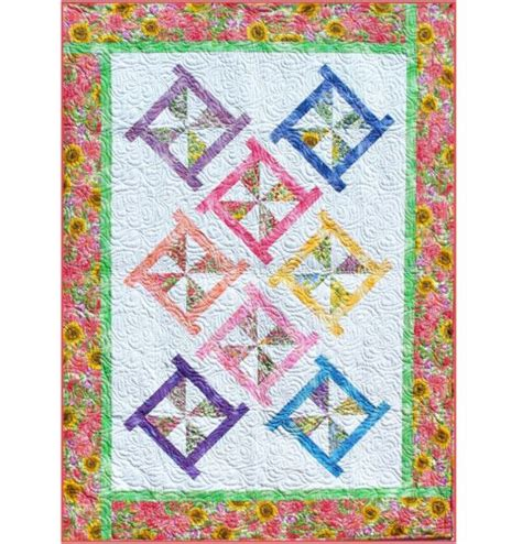 E Quilt Patterns by Pinwheel Posies Quilt Pattern B J Q 115 Printable