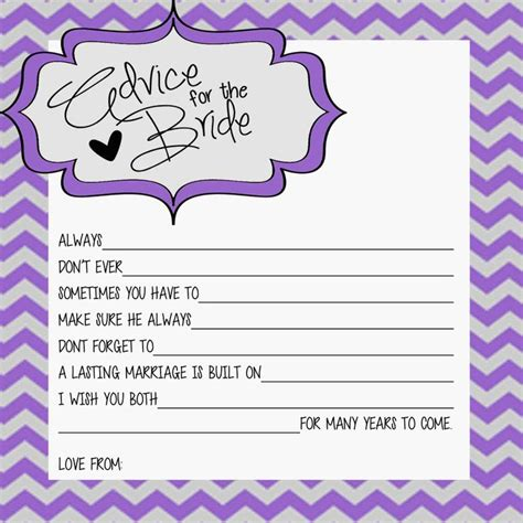 Marriage Advice Quotes For Bridal Shower by Advice For The Wedding Shower