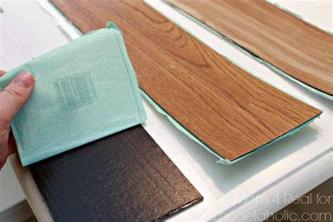 peel and stick plank flooring diy plank backsplash using peel and stick vinyl flooring