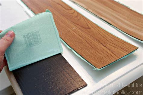 peel and stick plank flooring diy plank backsplash using peel and stick vinyl flooring remodelaholic bloglovin