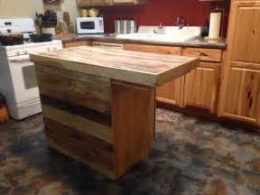 wooden kitchen island table recycled pallet kitchen island table ideas pallet wood projects