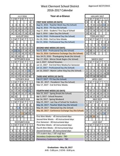 Cincinnati Schools Calendar 2016 17 And 2017 18 District Calendars Approved West