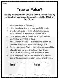hitler biography worksheet adolf hitler facts worksheets historic biography for kids