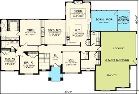 ranch floor plans with bonus room 17 best images about 2400 sf on pinterest european house