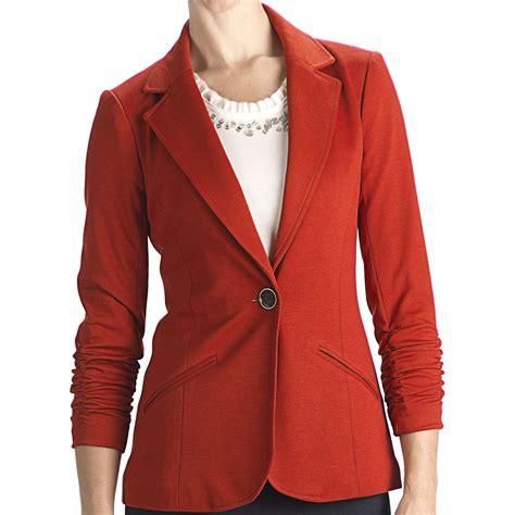 womens knit blazer anthracite r ponte knit blazer 3 4 sleeve for