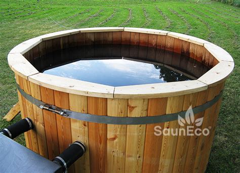 wood hot tub uk premium big wooden hot tub spa 216 5 5ft wood fired heater