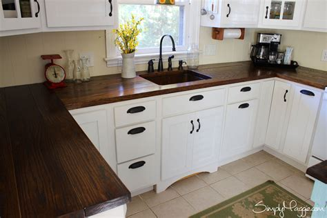 Painting Butcher Block Countertops - diy wide plank butcher block counter tops www simplymaggie